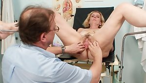 Harsh pussy exam for needy mature