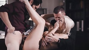 Desperate wife Kenzie banged in front of her husband