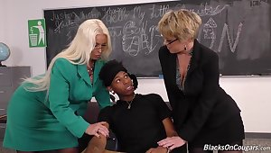 Black Student Fucks Every Hole Of Two Dirty Teachers